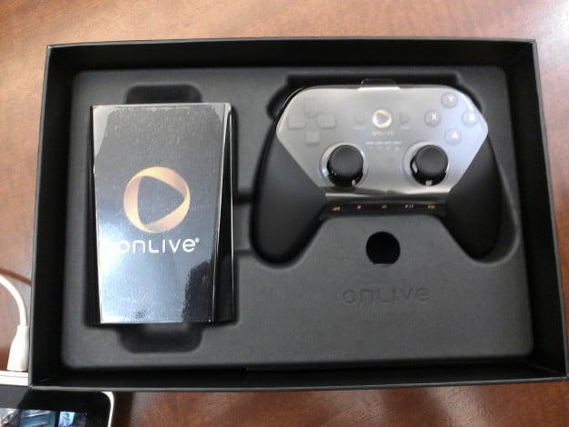 OnLive controller and console