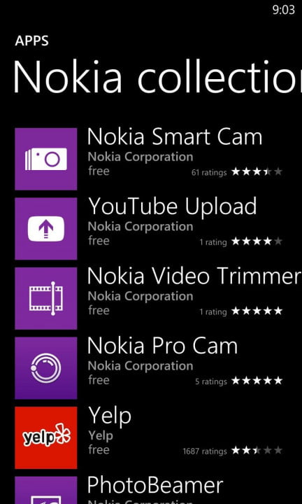 Nokia 1020: Windows 8 Nokia Apps