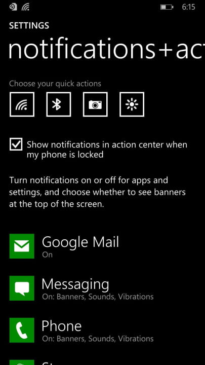 windows phone  review notifications