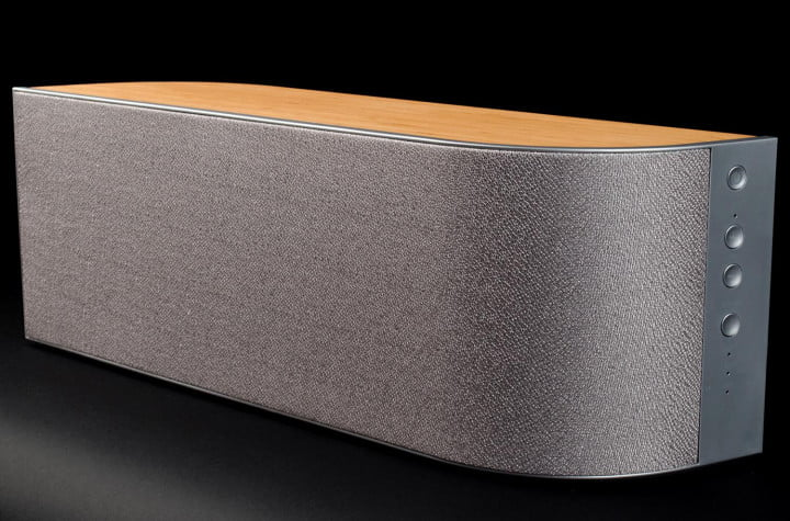 Wren V5AP Airplay speaker review front side angle