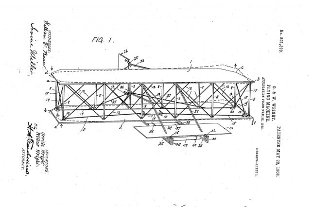 wright brothers  flying machine patent found