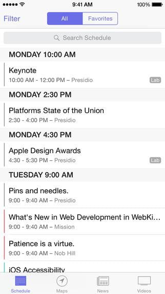 apple wwdc  app for ios