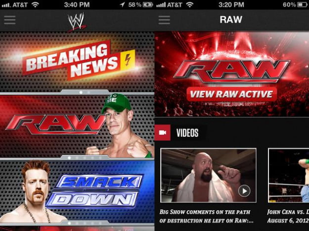 WWE screenshot wrestling ipad app