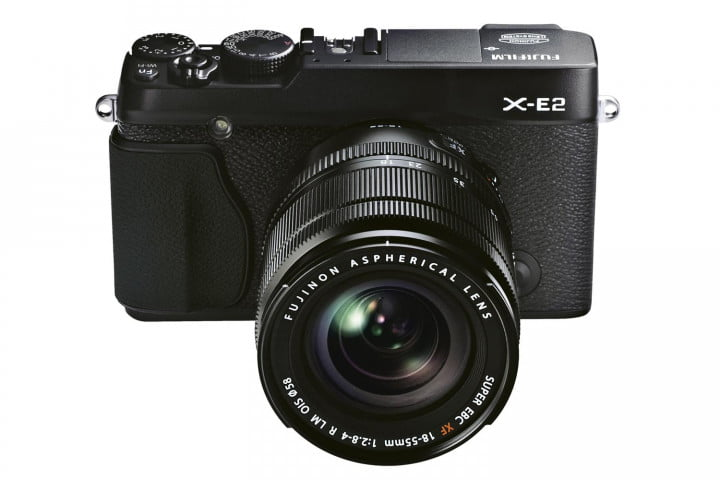 fujifilm puts stronger sensor and faster hybrid autofocusing into new x e  black front high angle mm