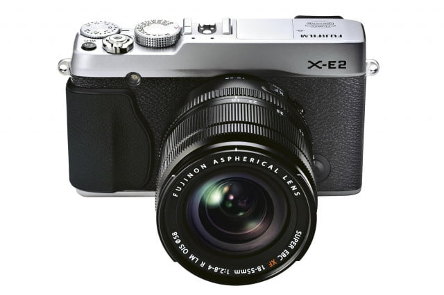 fujifilm x e  firmware update decreases viewfinder lag time to seconds silver front high angle mm