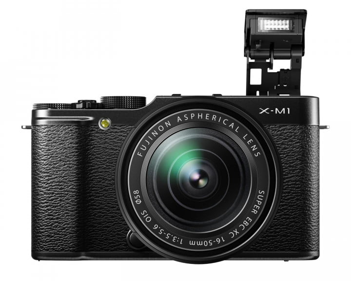 fujifilm x m  black front flash mm