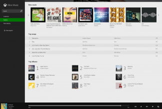 xbox music browser interface