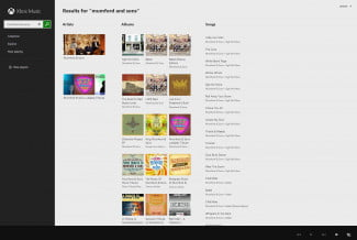 xbox music browser search