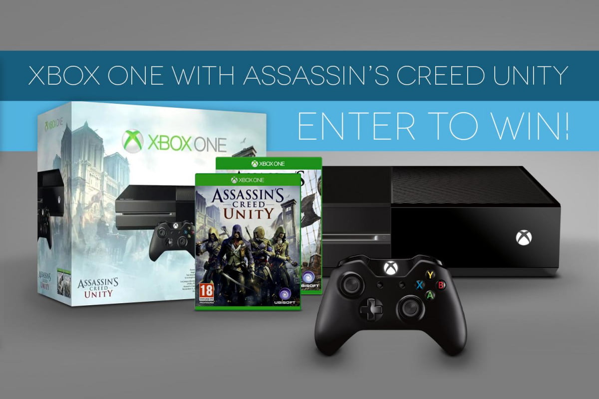 dt giveaway enter chance win assassins creed unity xbox one bundle contest