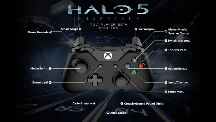 five new features youll get try halo  guardians beta xbox one controller callouts h