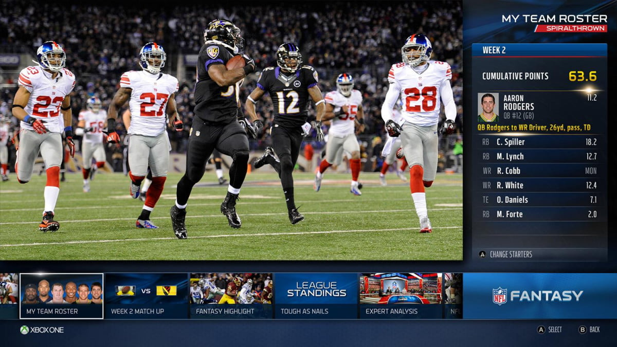 xbox one rewards cord keepers with live nfl games app fantasy teamroster