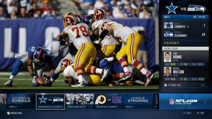 xbox one rewards cord keepers with live nfl games app gamecenter