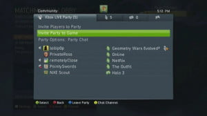 xbox party chat
