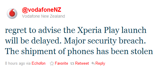 xperia play launch