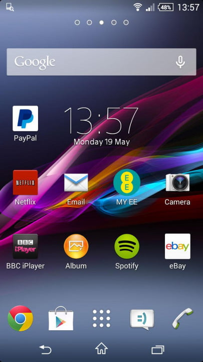 sony xperia z  compact review screenshot home
