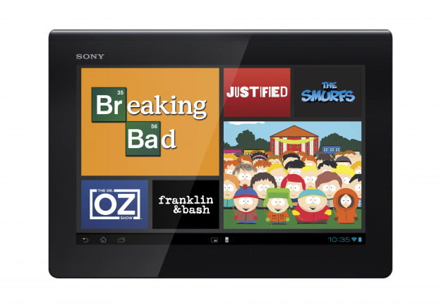 Sony Xperia Tablet S Watch Now app