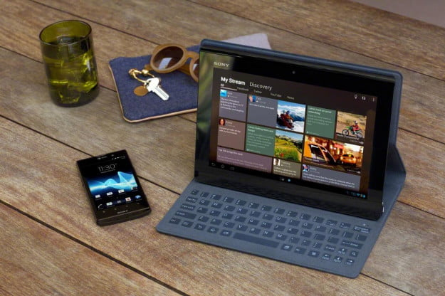 Sony Xperia Tablet S with keyboard cover
