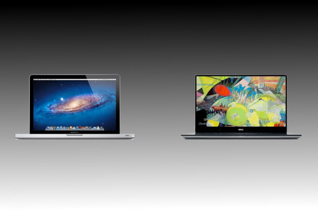 macbook pro  vs dell xps vsmacbook