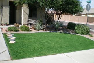 Xtreme Green Grass painted this lawn to make it appear healthy, sans water.