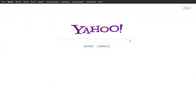 yahoo homepage techcrunch