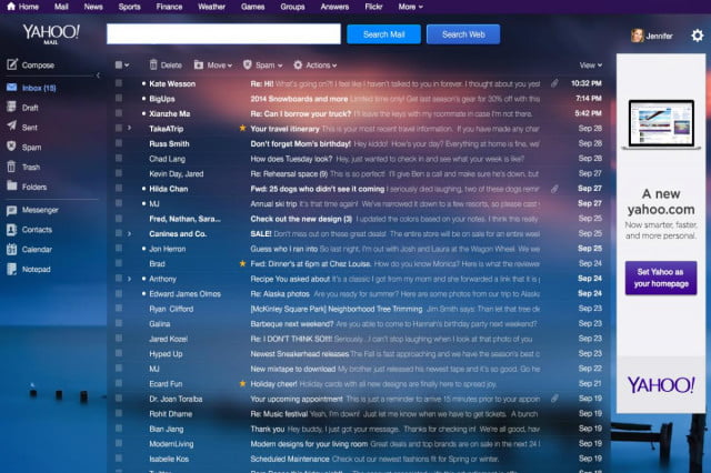 tabs make return yahoo mail desktop inbox message list
