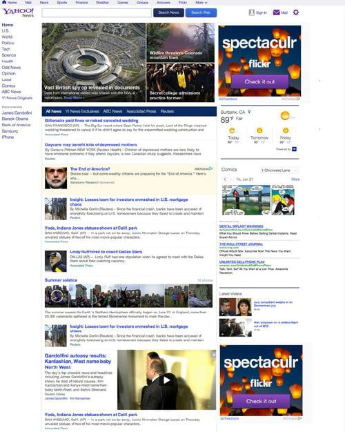 yahoo news personalized