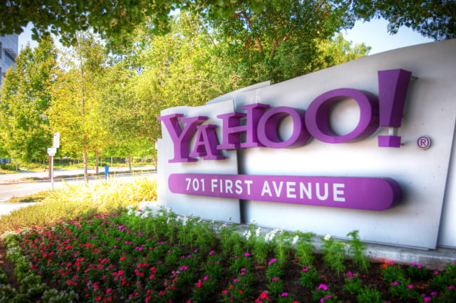 time yahoo merger report offices headquarters hq sign logo