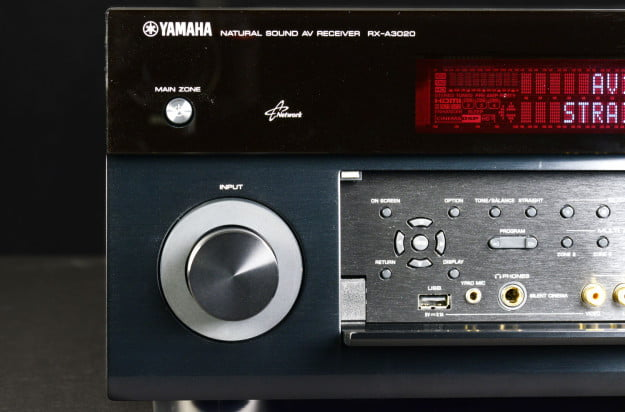 yamaha aventage a 3020 receiver front panel usb digital connection input knob