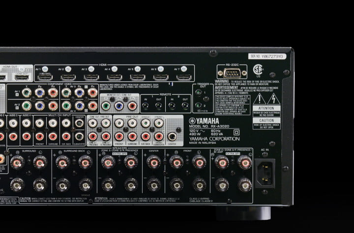 yamaha aventage a  review receiver multi zone hdmi output