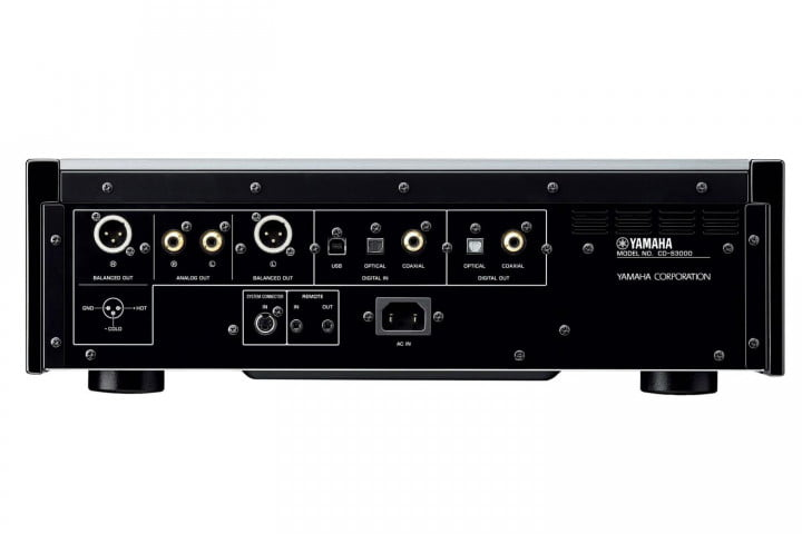yamaha introduces a s  and cd audio components rear ports