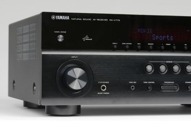 Yamaha RX V773 receiver review left side av receiver home theater