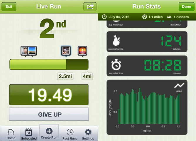 Yog screenshot running app iphone