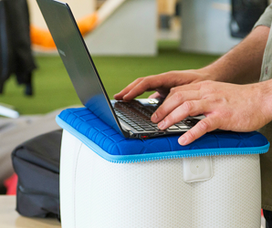 This inflatable turns any table into a standing desk