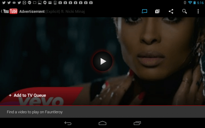 best chromecast apps youtube screenshot