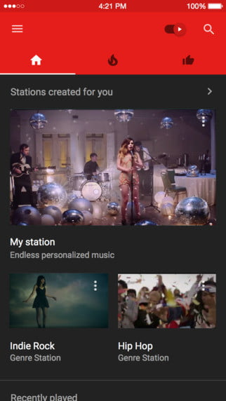 youtube launches music ios