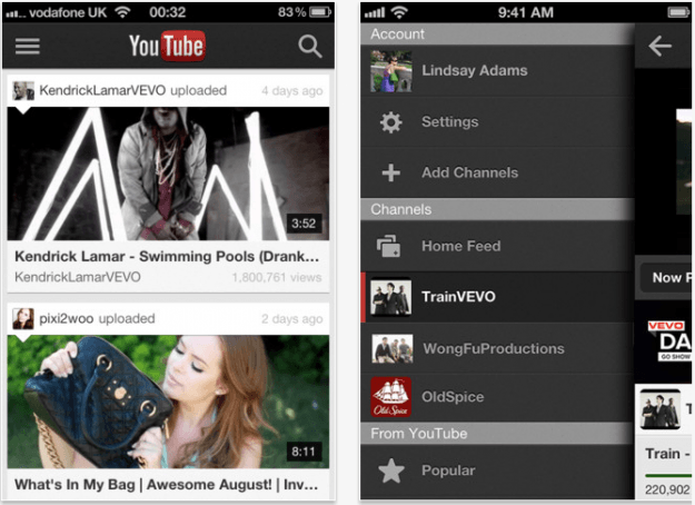 youtube new iphone app