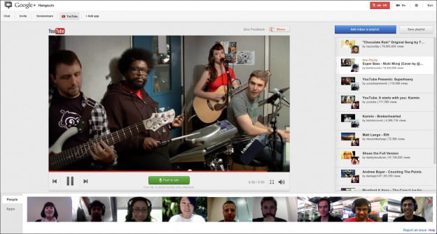 YouTube Party on Google+ Hangouts
