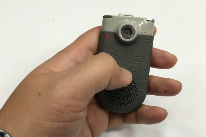 zagg now cam is a pocket camcorder that doubles as mini bluetooth speaker inhand