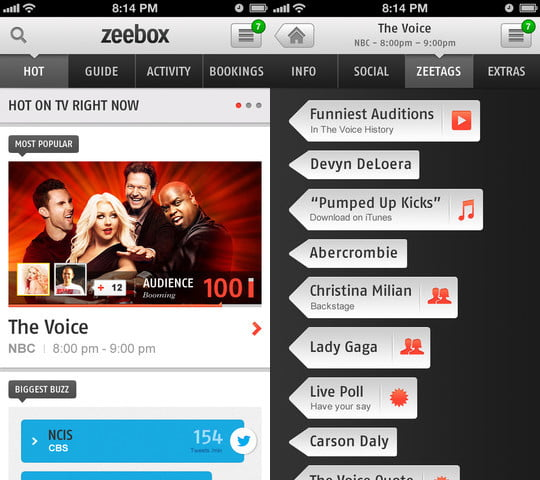 zeebox screenshot ipod touch game