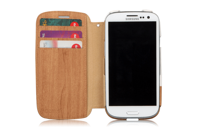Zenus Galaxy S3 Masstige Oak Wood Block Diary Case