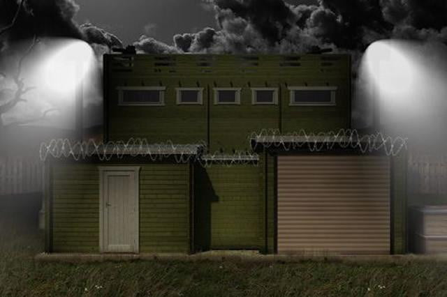 zombie proof log cabin comes security cameras solar panels xbox fortification