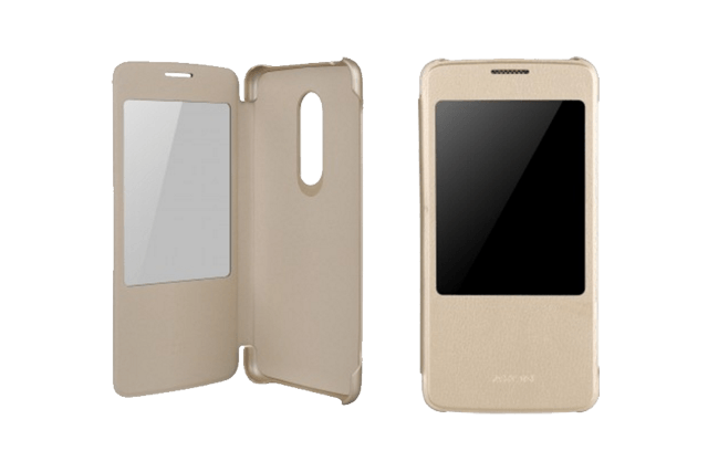 zte axon 7 clear view folio case