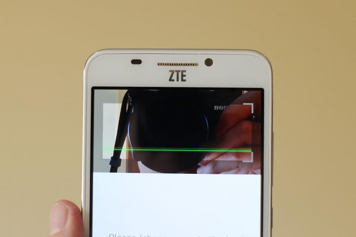 how retinal scanning works in ztes grand s  zte screen top