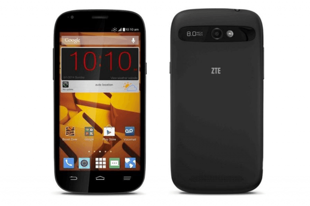 zte warp sync makes way boost mobile  inch display price tag