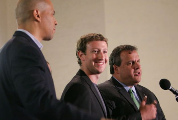 zuckerberg and governer chris christie