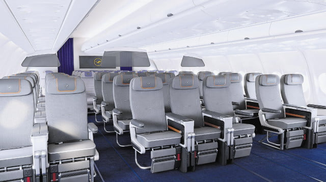 Lufthansa's new premium economy cabin offers an upgrade experience, but for a fee.