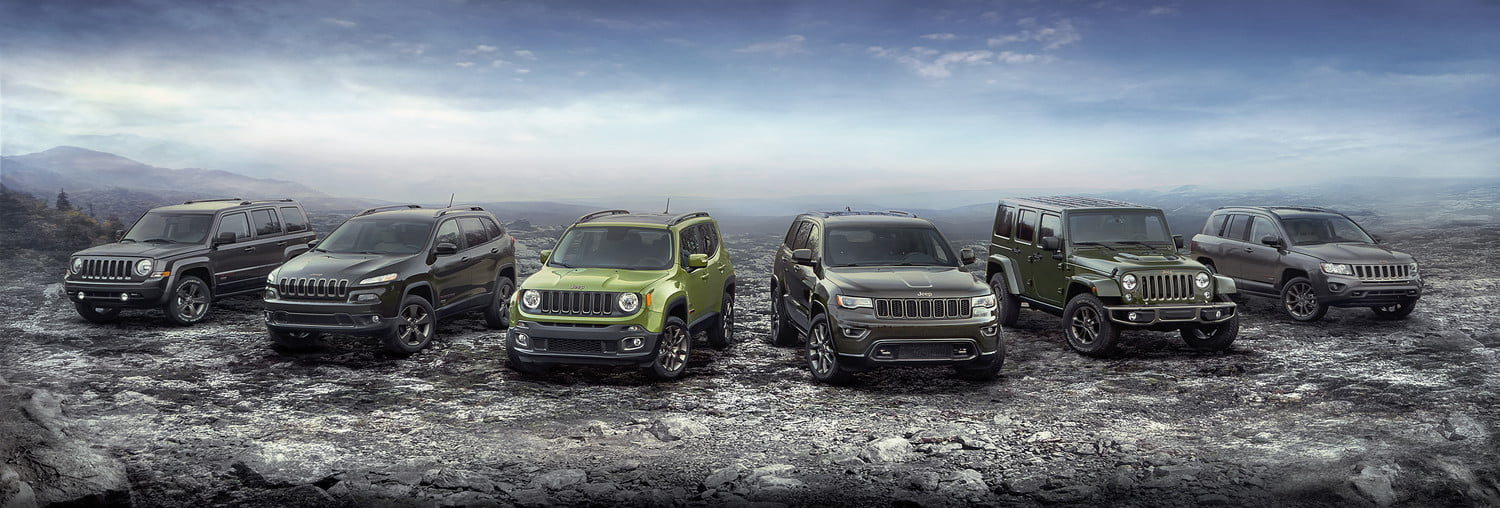 2016 Jeep 75th Anniversary edition full lineup