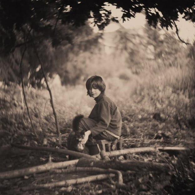 An example of an image taken with the Petzvar and medium format camera.