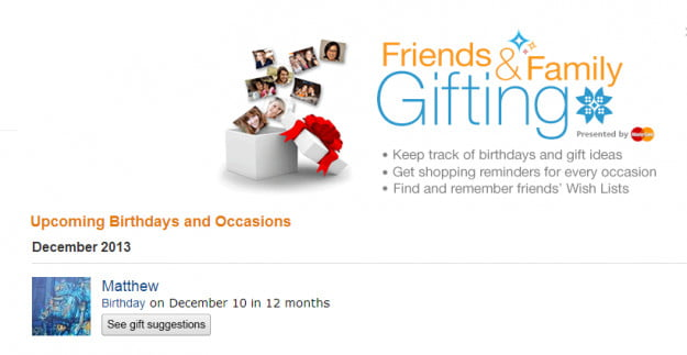 Amazon Friends And Family Gifting