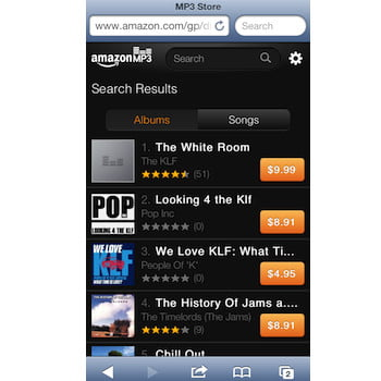 Amazon MP3 music store now available on iOS through HTML5